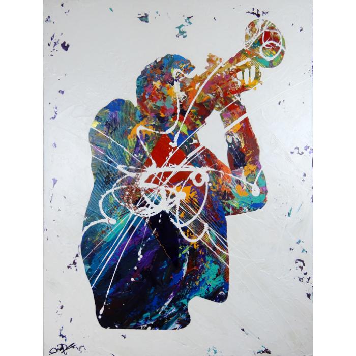 Oeuvre expressionniste abstraite, jouant sur le mouvement, les contrastes et la texture. Inspirée du Jazz de John Coltrane et Bill Evans.