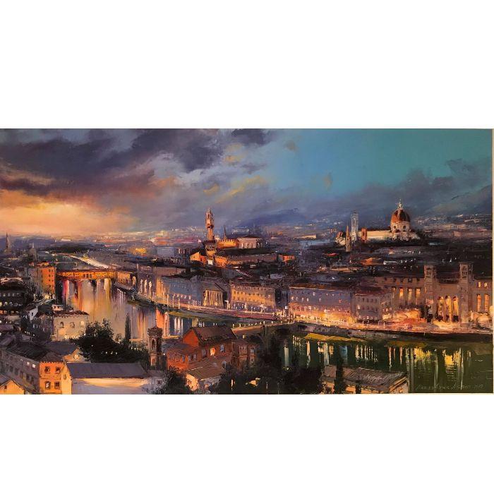 """Florence en panoramique - 16""""x30"""""""
