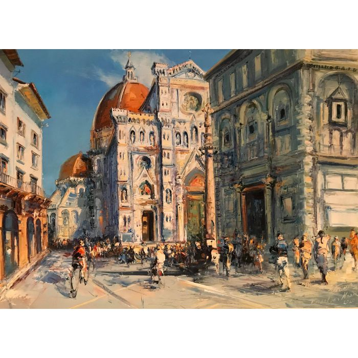 Huile sur toile de l'artiste peintre Narek Arakelyan. Duomo di Firenze